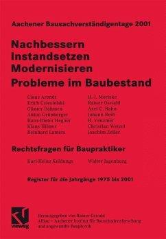 Aachener Bausachverständigentage 2001