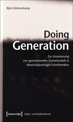 Doing Generation (eBook, PDF) - Bohnenkamp, Björn