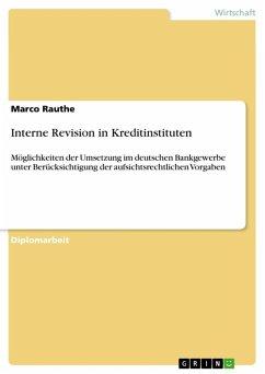 Interne Revision in Kreditinstituten (eBook, ePUB)