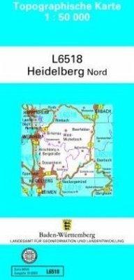Topographische Karte Baden-Württemberg, Zivilmilitärische Ausgabe - Heidelberg-Nord / Topographische Karten Baden-Württemberg, Zivilmilitärische Ausgabe