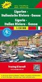 Freytag & Berndt Auto + Freizeitkarte Ligurien, Italienische Riviera, Genua, Autokarte 1:150.000, Top 10 Tips; Freytag B