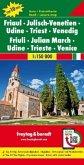Freytag & Berndt Auto + Freizeitkarte Friaul - Julisch-Venetien - Udine - Triest - Venedig, Top 10 Tips, Autokarte 1:150
