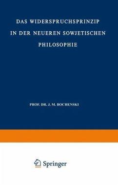 Das Widerspruchsprinzip in der Neueren Sowjetischen Philosophie