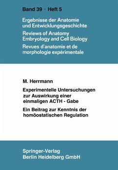 Experimentelle Untersuchungen zur Auswirkung einer einmaligen ACTH-Gabe