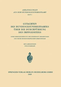 Gutachten des Bundesgesundheitsamtes über die Durchführung des Impfgesetzes