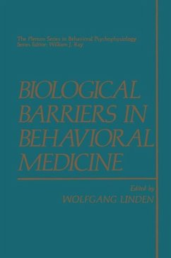 Biological Barriers in Behavioral Medicine