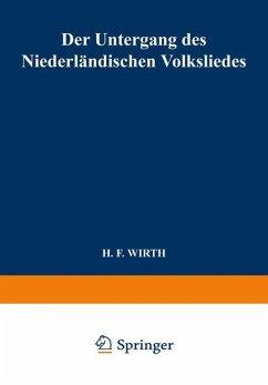 Der Untergang des Niederländischen Volksliedes