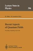 Recent Aspects of Quantum Fields