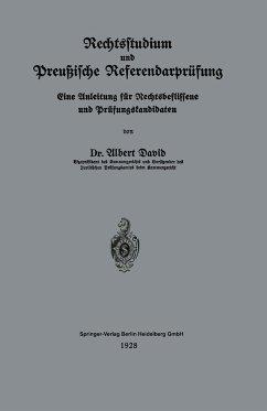 Rechtsstudium und Preußische Referendarprüfung