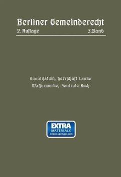 Kanalisation, Herrschaft Lanke, Wasserwerke, Zentrale Buch - Magistrat Von Berlin