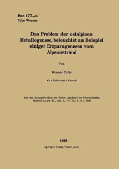 Das Problem der ostalpinen Metallogenese, beleuchtet am Beispiel einiger Erzparagenesen vom Alpenostrand