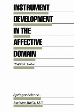 Instrument Development in the Affective Domain - Gable, Robert K.