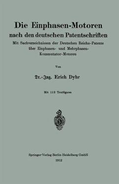 Die Einphasen-Motoren nach den deutschen Patentschriften