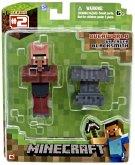 Minecraft - VILLAGER BLACKSMITH mit Amboss, bewegliche Sammelfigur mit Zubehör