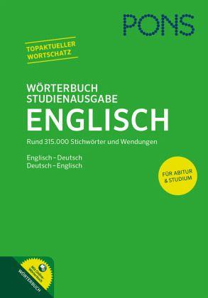 pons w rterbuch studienausgabe englisch buch b