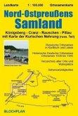 Landkarte Nord-Ostpreußens Samland