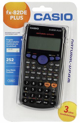Casio fx 82 taschenrechner de plus for Design tisch taschenrechner