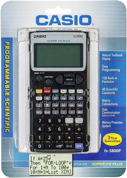 Casio Fx 5800 Taschenrechner P Portofrei Bei Bücherde Kaufen