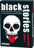 Moses MOS00807 - Black stories, Funny Death Edition 2, 50 rabenschwarze Rätsel, Das Krimi Kartenspiel, Familienspiel