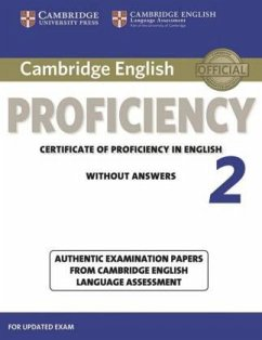 Student's Book without answers / Cambridge English Proficiency 2 for updated exam