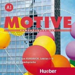 2 Audio-CDs zum Kursbuch, Lektion 1-8 / Motive - Kompaktkurs DaF Bd.A1 - Krenn, Wilfried; Puchta, Herbert