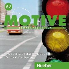 2 Audio-CDs zum Kursbuch, Lektion 9-18 / Motive - Kompaktkurs DaF Bd.A2 - Krenn, Wilfried; Puchta, Herbert