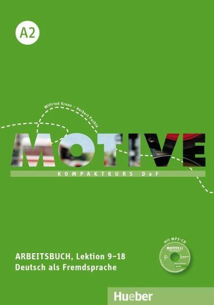 motive a2 arbeitsbuch lektion 9 18 mit mp3 audio cd von. Black Bedroom Furniture Sets. Home Design Ideas