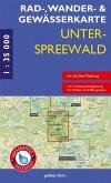 Rad-, Wander- und Gewässerkarte Unterspreewald