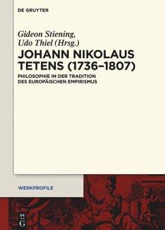 Johann Nikolaus Tetens (1736-1807)