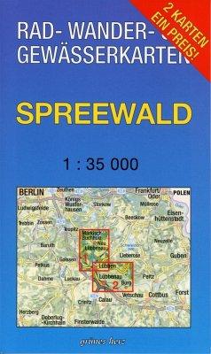 Rad-, Wander- & Gewässerkarte Spreewald, 2 Bl.