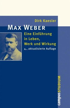 Max Weber (eBook, PDF) - Kaesler, Dirk