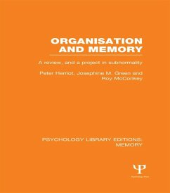 Organisation and Memory (PLE: Memory)