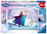 Ravensburger 09115 - Disney Frozen, Schwestern für immer, 2 x 24 Teile Puzzle