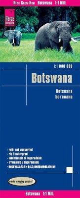 Reise Know-How Landkarte Botswana; Botsuana