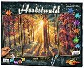 Noris 609260688 - Malen nach Zahlen - Herbstwald, Triptychon 50 x 80cm