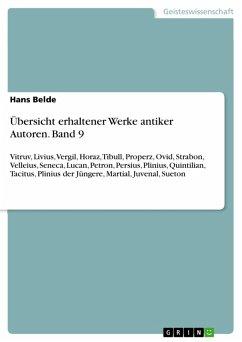 Übersicht erhaltener Werke antiker Autoren. Band 9 (eBook, PDF)