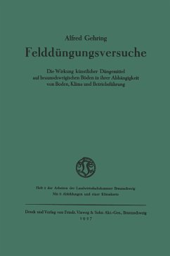 Felddüngungsversuche - Gehring, Alfred
