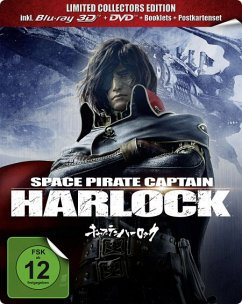 Space Pirate Captain Harlock (Blu-ray 3D, + DVD, Limited Collector's Edition, Steelbook, 2 Discs)