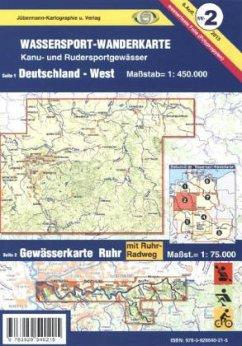 Jübermann Wassersport-Wanderkarte Deutschland-West; Gewässerkarte Ruhr