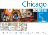 Chicago PopOut Map, 5 maps