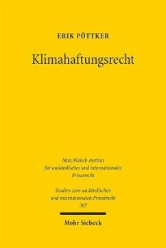 Klimahaftungsrecht - Pöttker, Erik