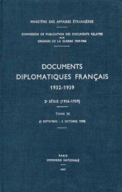 Documents diplomatiques français 1932-1939 - Tome XI