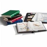 Briefmarken Einsteckbuch BASIC, 64 schwarze Seiten, Einband unwattiert in Rot, DIN A4