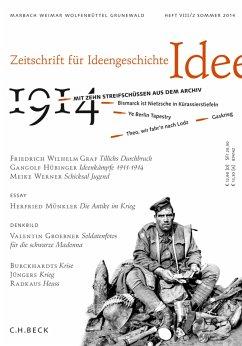 Zeitschrift für Ideengeschichte Heft VIII/2 Sommer 2014 (eBook, ePUB)