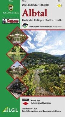 Topographische Wanderkarte Baden-Württemberg Al...