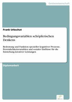 Bedingungsvariablen schöpferischen Denkens (eBook, PDF)