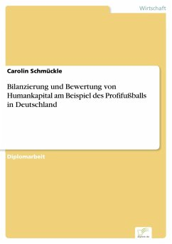 Bilanzierung und Bewertung von Humankapital am Beispiel des Profifußballs in Deutschland (eBook, PDF)