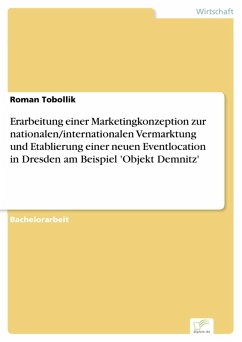 Erarbeitung einer Marketingkonzeption zur nationalen/internationalen Vermarktung und Etablierung einer neuen Eventlocation in Dresden am Beispiel 'Objekt Demnitz' (eBook, PDF)