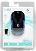 Logitech M 185 Cordless Notebook Mouse USB schwarz / blau