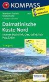 Kompass Karte Dalmatinische Küste Nord